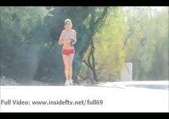 Megan _ Unprofessional babe flashing her boobs & walking naked in public