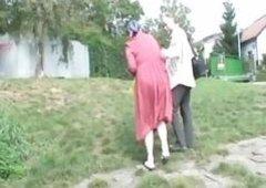 Naughty Granny Horny Receives A Happy Having An Intercourse