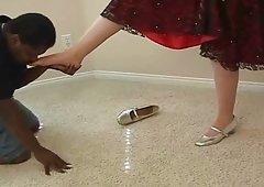 Dark Brown Lady & Her Feet Slaves, p. 6