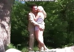 Sex on the beach with pickup blond
