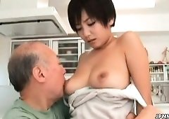 Oriental milf receives her tits sucked part6