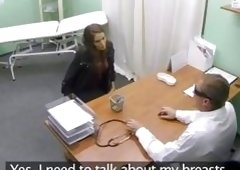 Sex Appeal babe in a fake hospital