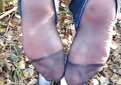 cum on german Sexually Available Mom nylon soles