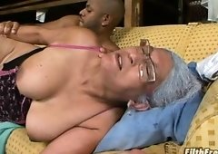 Granny performs a great bj then nails!