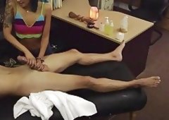 Oriental chick pawns her twat & screwed