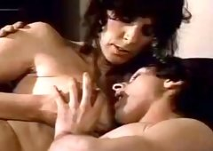 Lovely retro MILF receives her big boobies sucked and also bushy muff licked