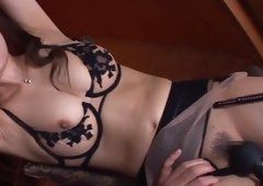 Horny Asiatic Babe Acquires Her Delicious Little Pussy Toyed