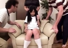 Pretty Asian teen with big hooters takes a hard pounding